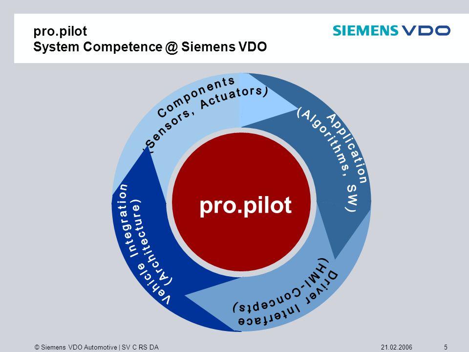 pro.pilot System Competence @ Siemens VDO