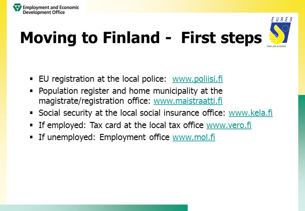 Moving to Finland - First steps