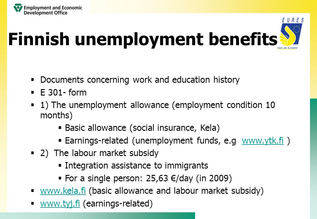 Finnish unemployment benefits