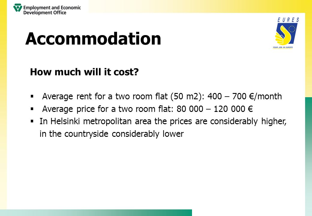 Accommodation How much will it cost