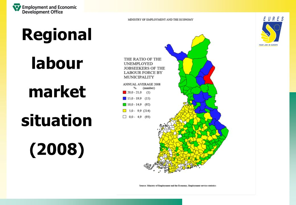 Regional labour market situation (2008)