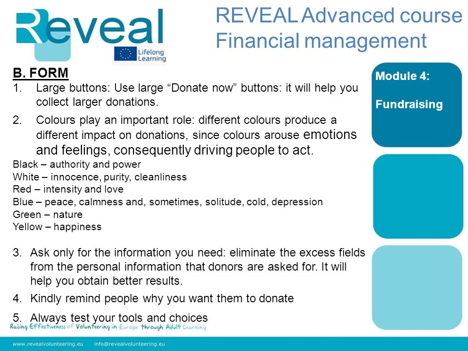 REVEAL Advanced course Financial management