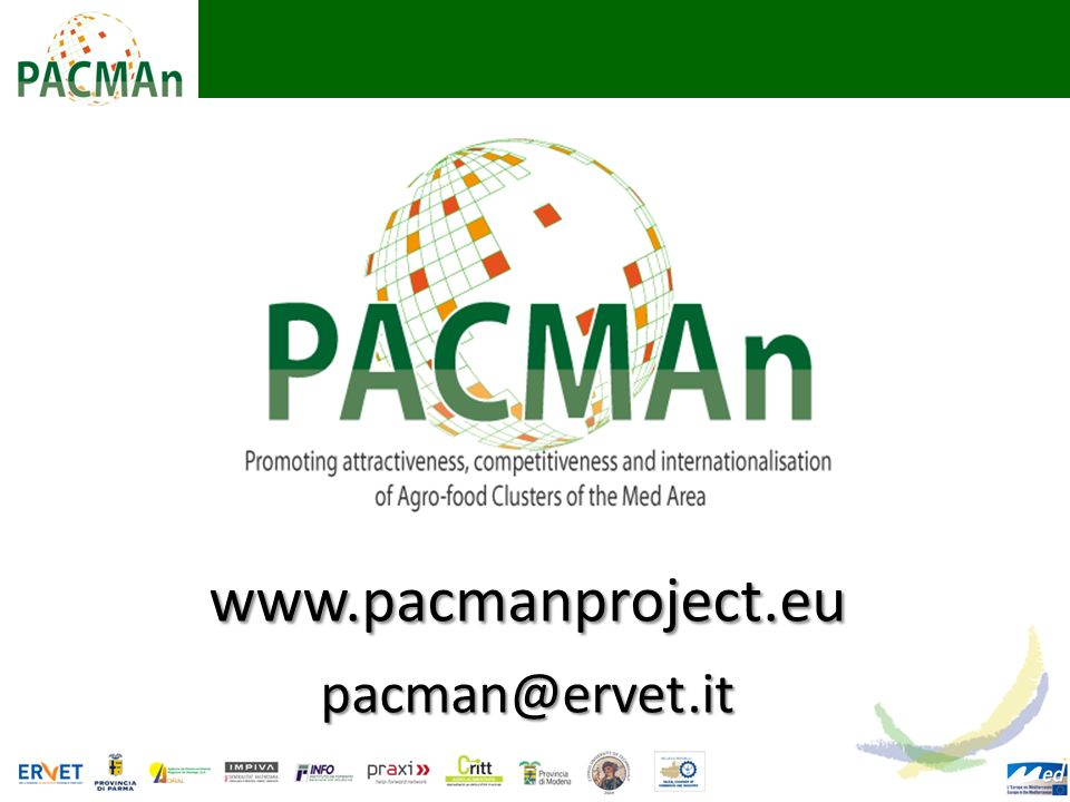 www.pacmanproject.eu pacman@ervet.it