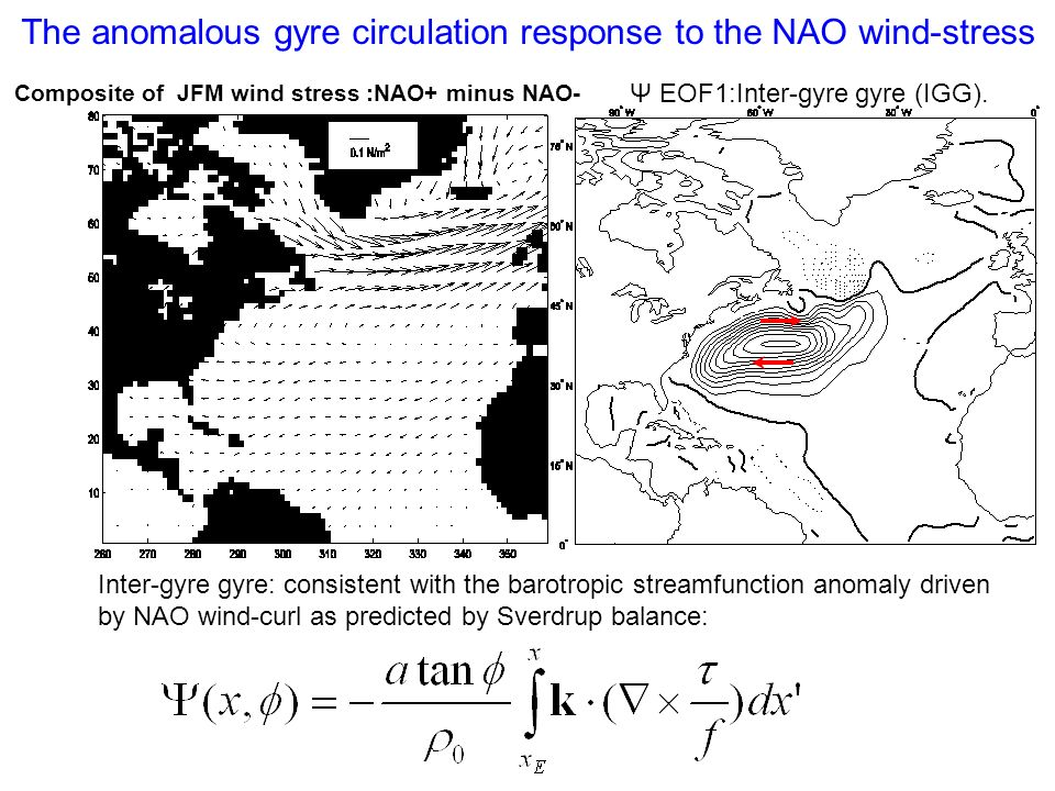The anomalous gyre circulation response to the NAO wind-stress