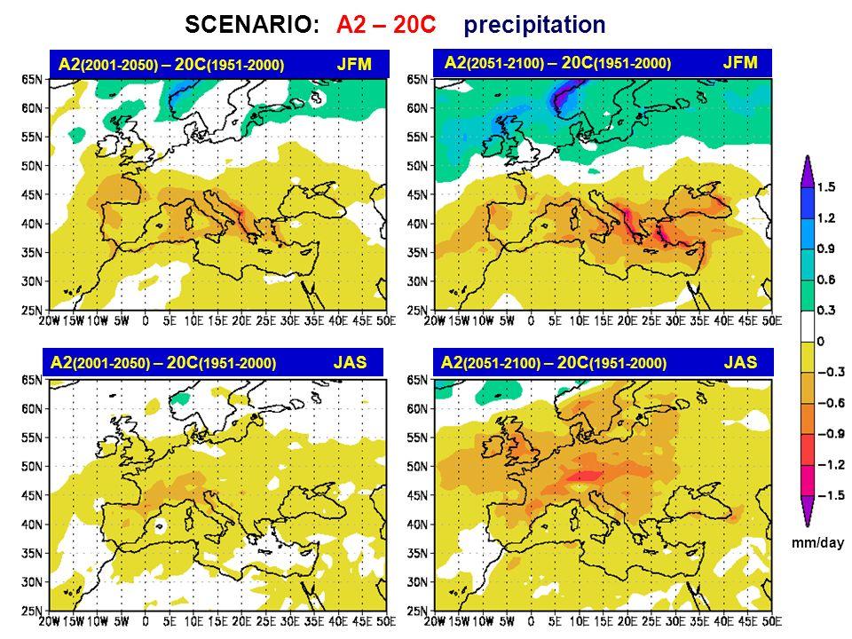 SCENARIO: A2 – 20C precipitation