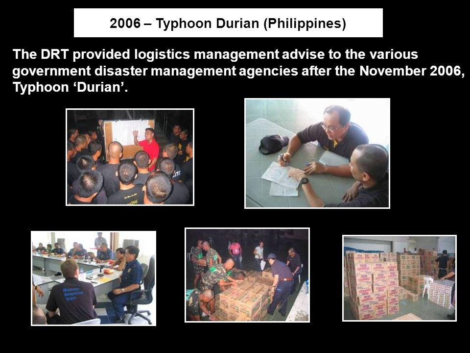 2006 – Typhoon Durian (Philippines)