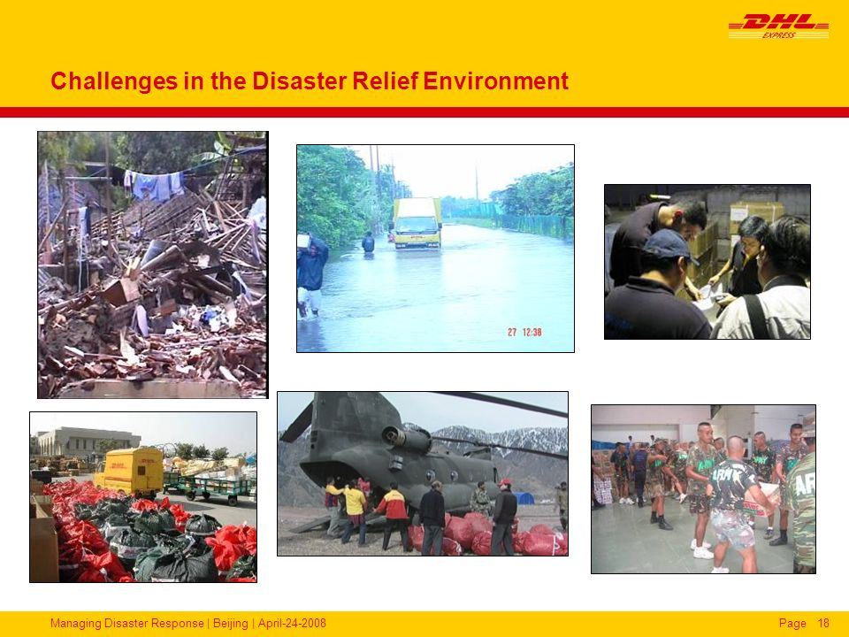 Challenges in the Disaster Relief Environment
