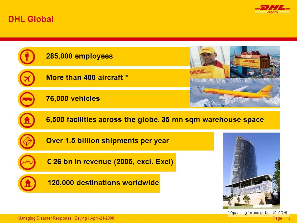 * Operating for and on behalf of DHL