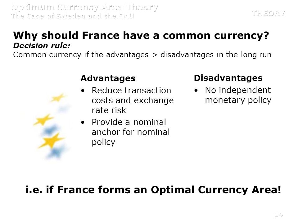 Why should France have a common currency