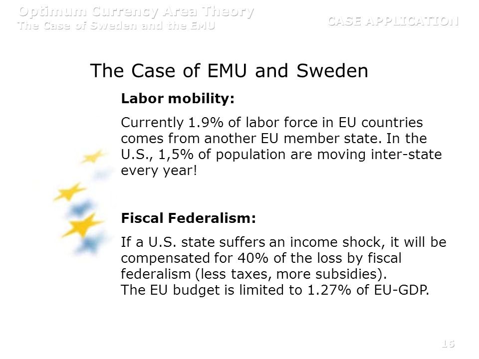 The Case of EMU and Sweden