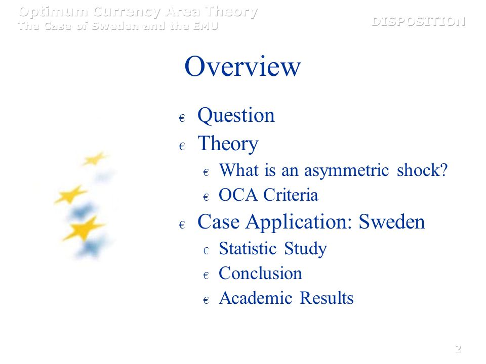 Overview Question Theory Case Application: Sweden
