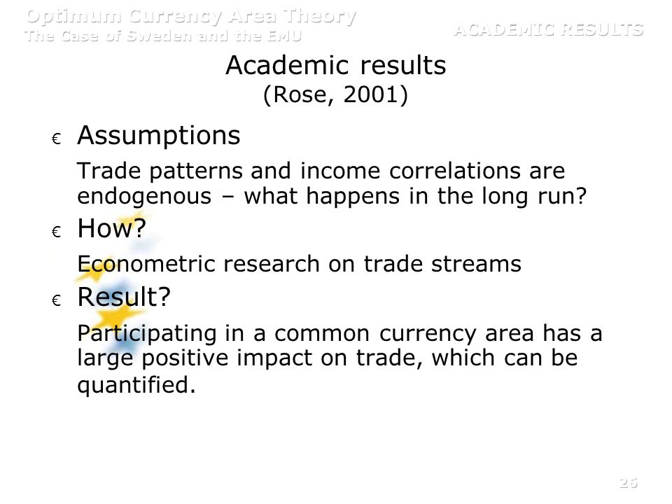 Academic results (Rose, 2001)