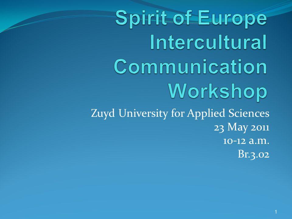 Spirit of Europe Intercultural Communication Workshop