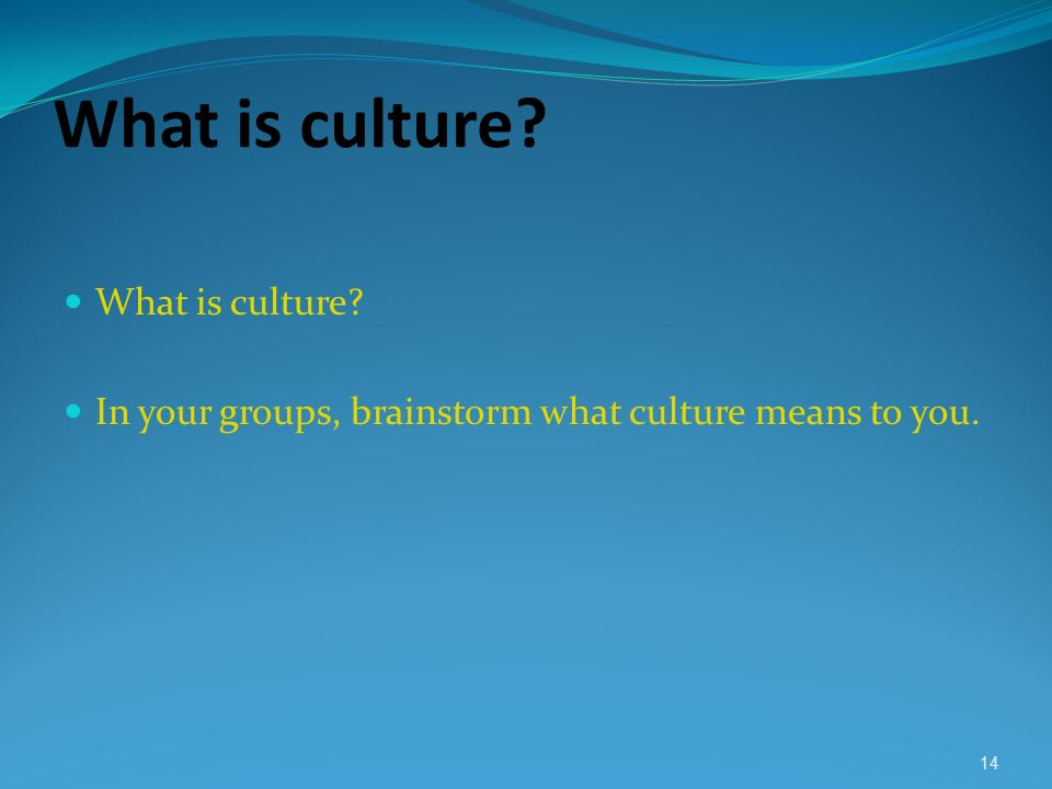 What is culture What is culture