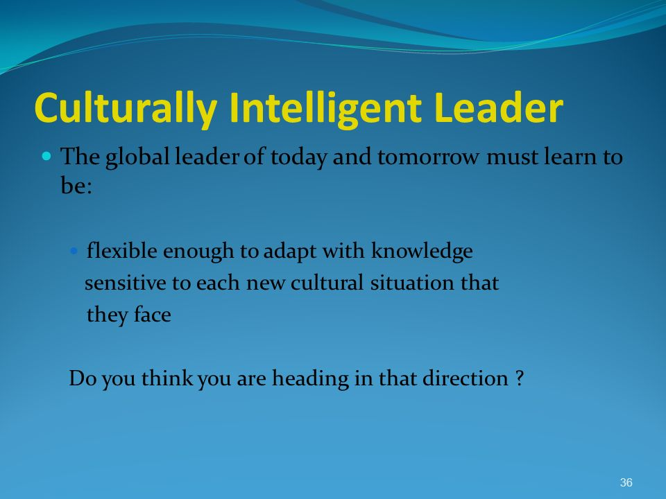 Culturally Intelligent Leader