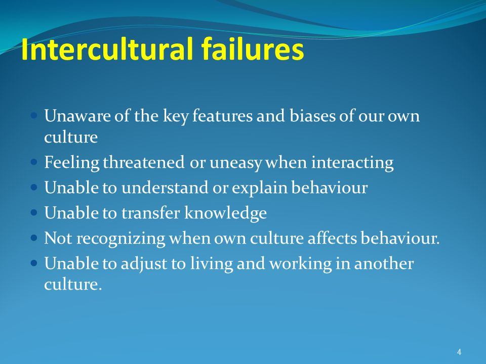 Intercultural failures