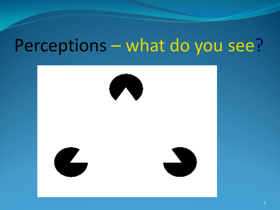 Perceptions – what do you see