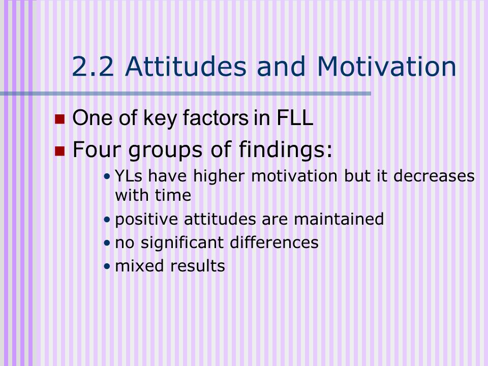 2.2 Attitudes and Motivation