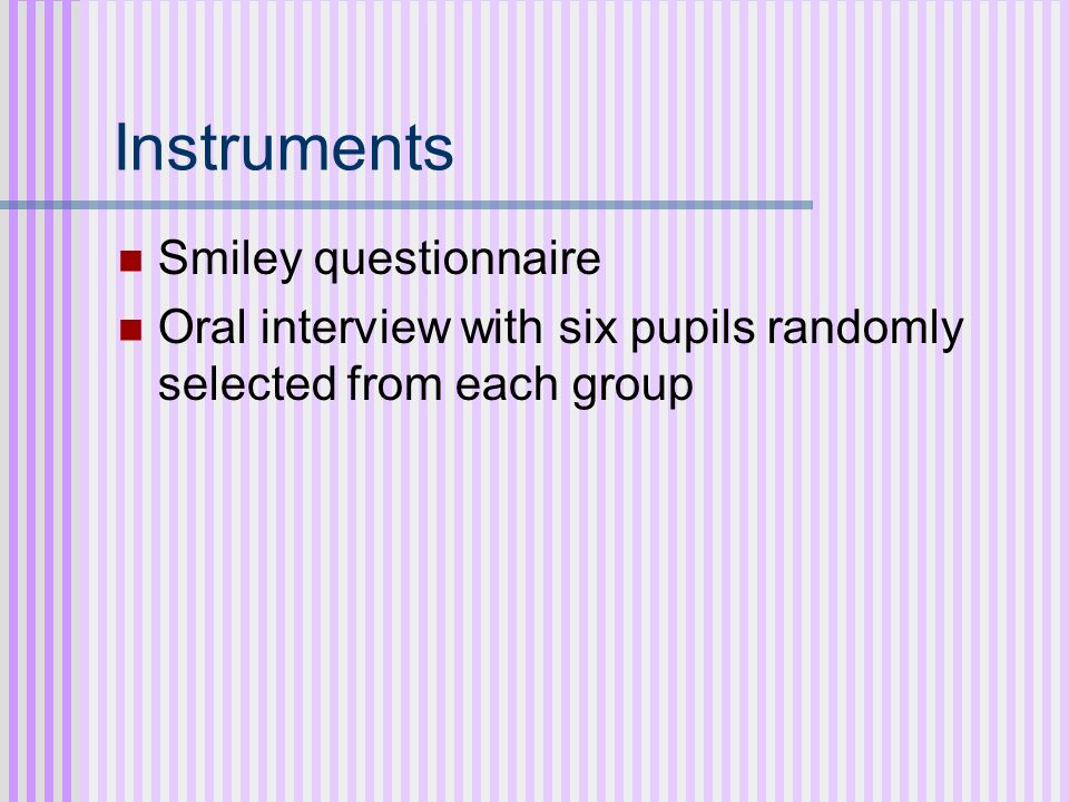 Instruments Smiley questionnaire