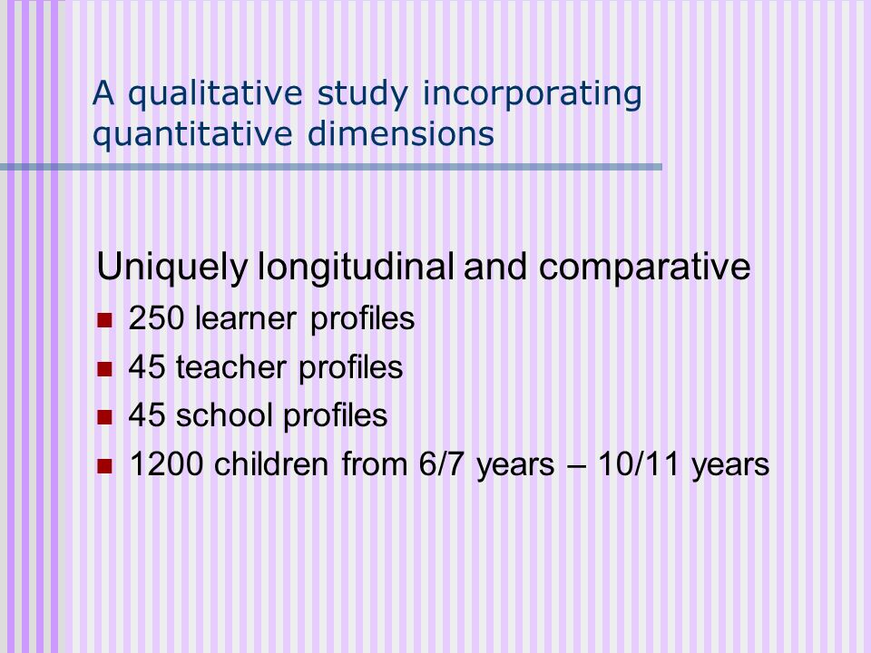 A qualitative study incorporating quantitative dimensions