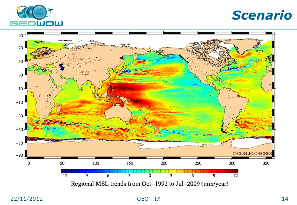 Scenario Corals vulnerable to local sea level change greater than potential growth rates. Regional sea level rise projections vary tremendously.