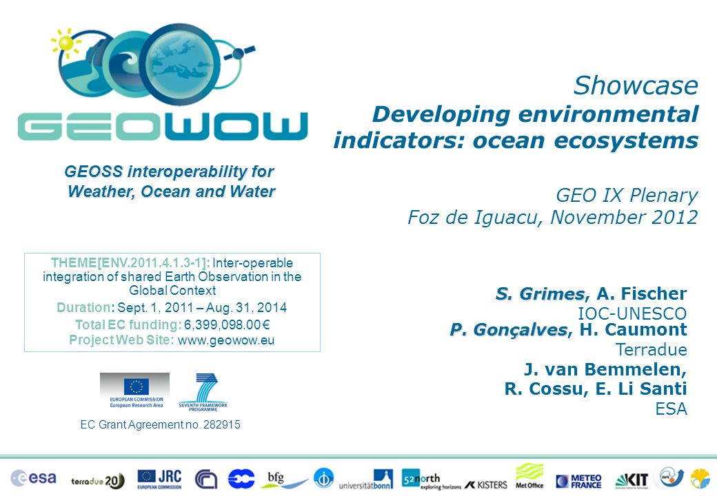 Showcase GEO IX Plenary