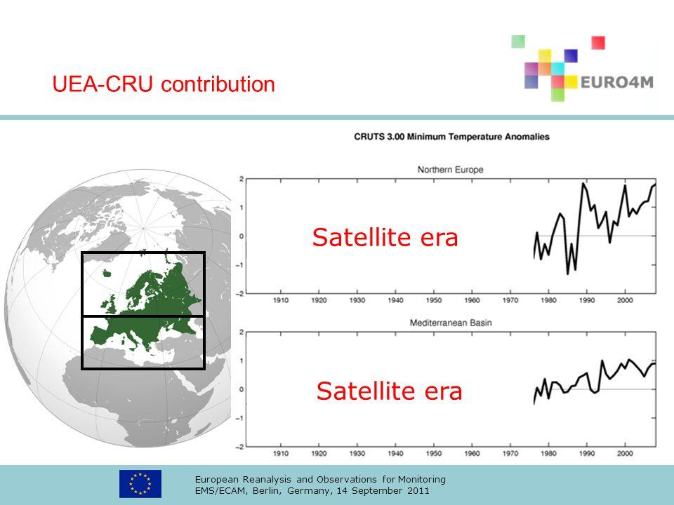 Satellite era Satellite era UEA-CRU contribution