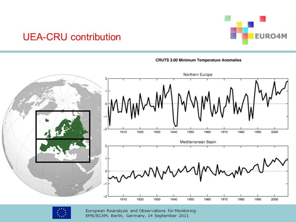 UEA-CRU contribution European Reanalysis and Observations for Monitoring.
