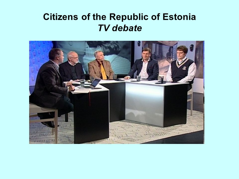Citizens of the Republic of Estonia TV debate