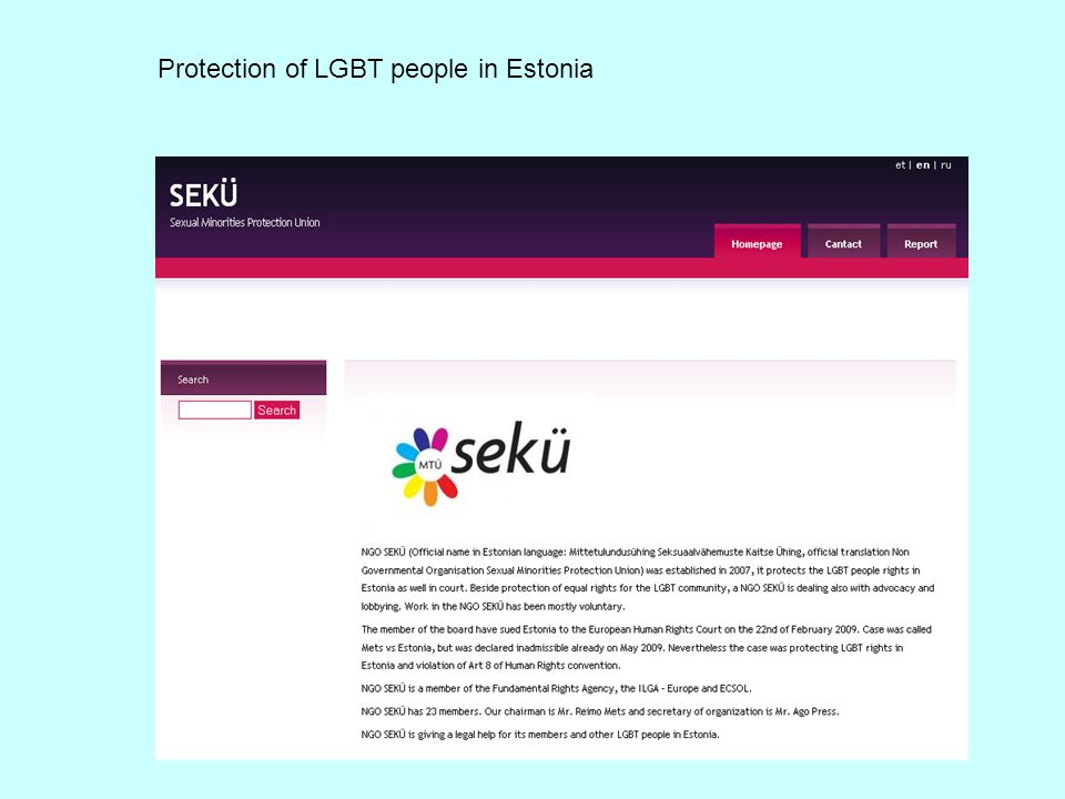Protection of LGBT people in Estonia