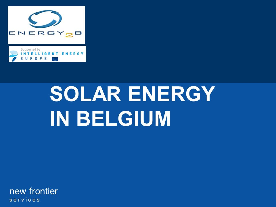 SOLAR ENERGY IN BELGIUM
