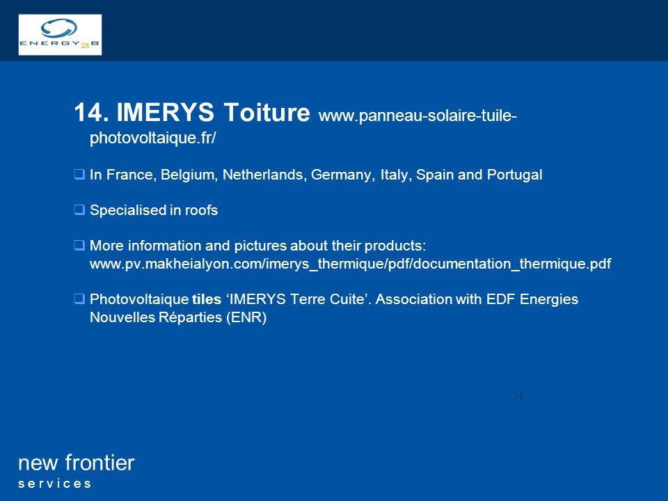 14. IMERYS Toiture www.panneau-solaire-tuile- photovoltaique.fr/