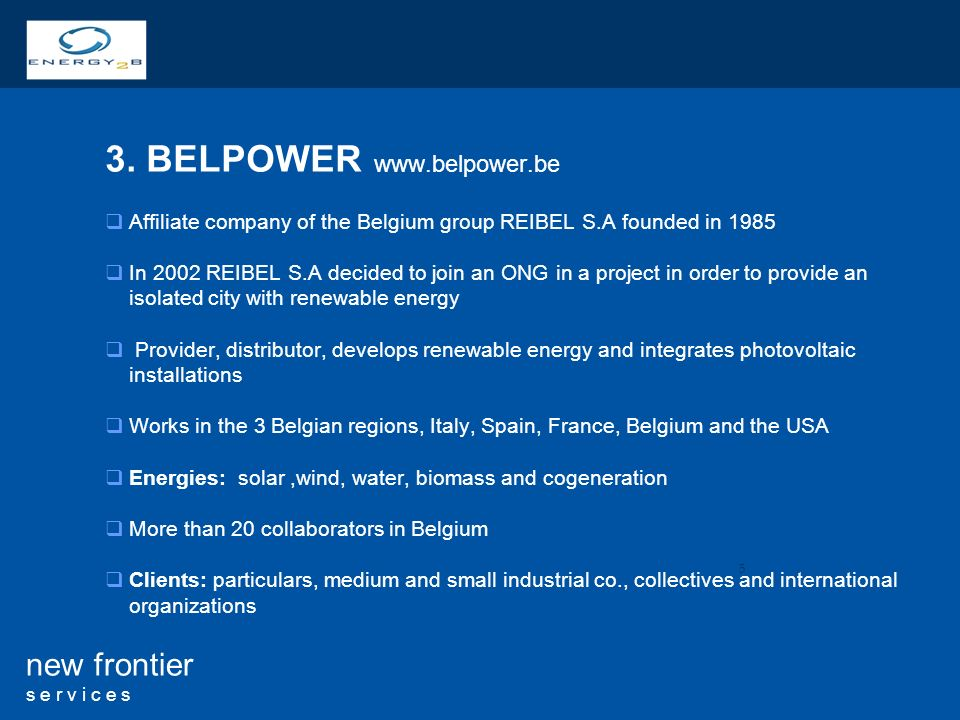 3. BELPOWER www.belpower.be