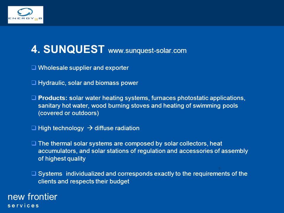 4. SUNQUEST www.sunquest-solar.com