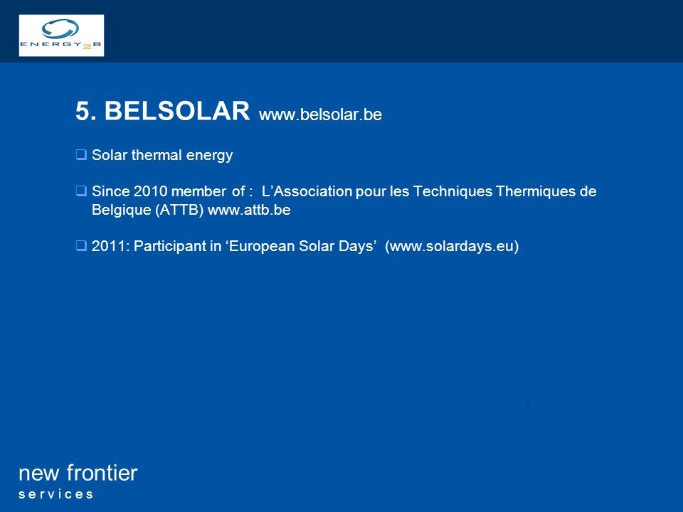 5. BELSOLAR www.belsolar.be