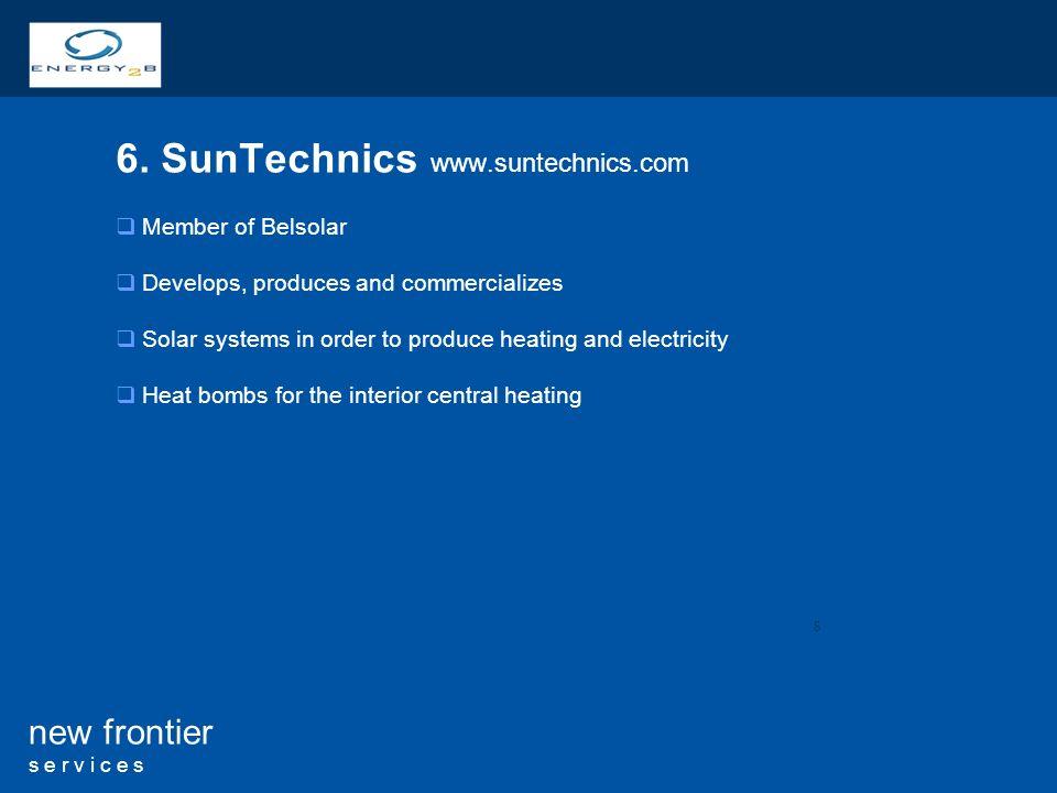 6. SunTechnics www.suntechnics.com