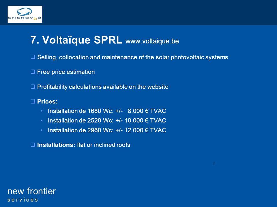7. Voltaïque SPRL www.voltaique.be