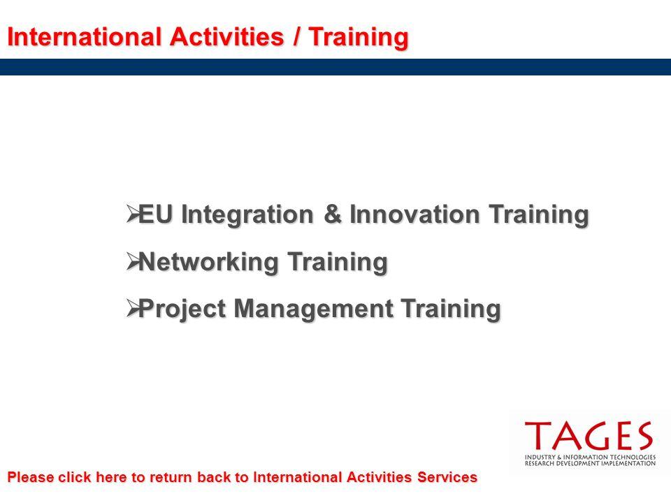 International Activities / Training