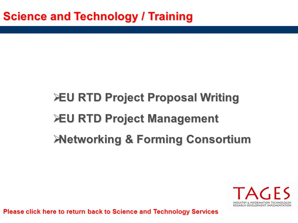 Science and Technology / Training