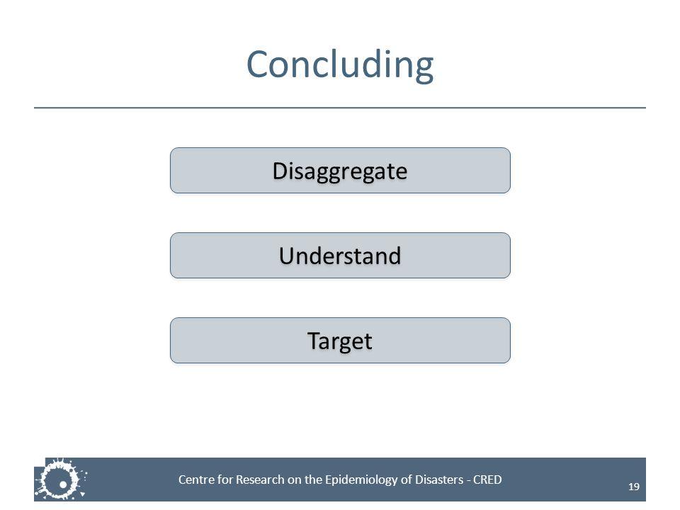 Concluding Disaggregate Understand Target