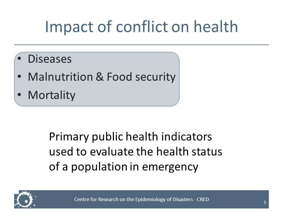 Impact of conflict on health
