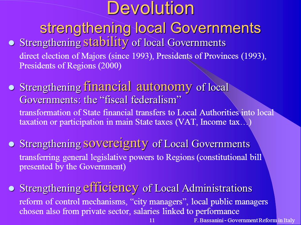 Devolution strengthening local Governments