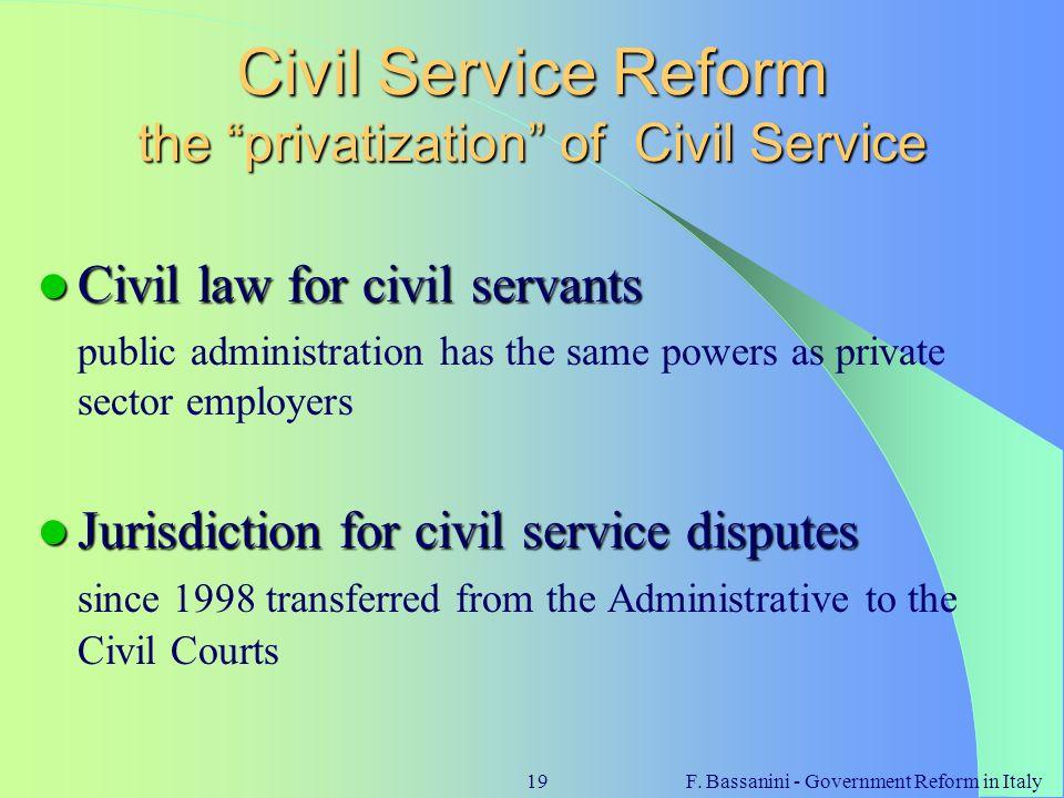 Civil Service Reform the privatization of Civil Service