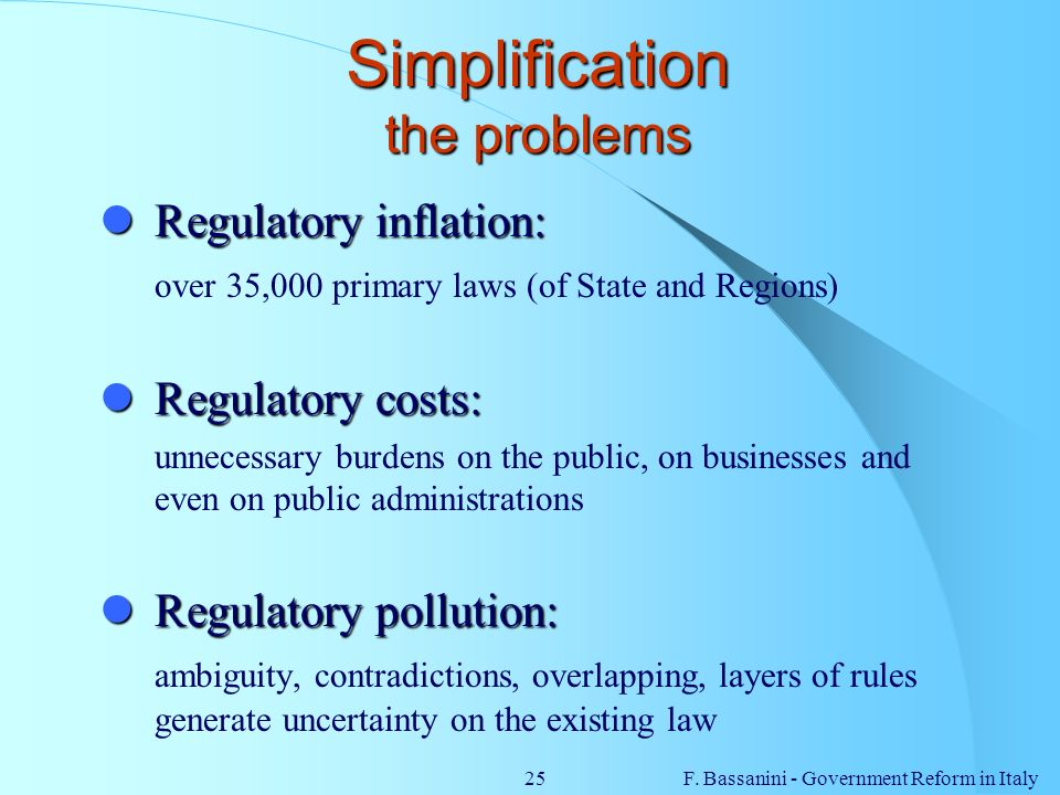 Simplification the problems
