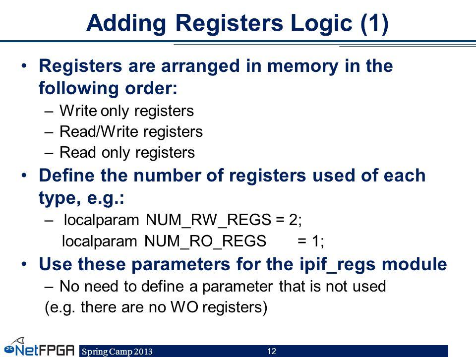 Adding Registers Logic (1)
