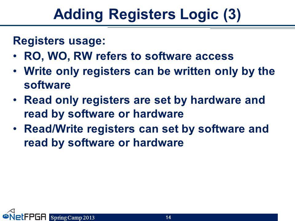 Adding Registers Logic (3)
