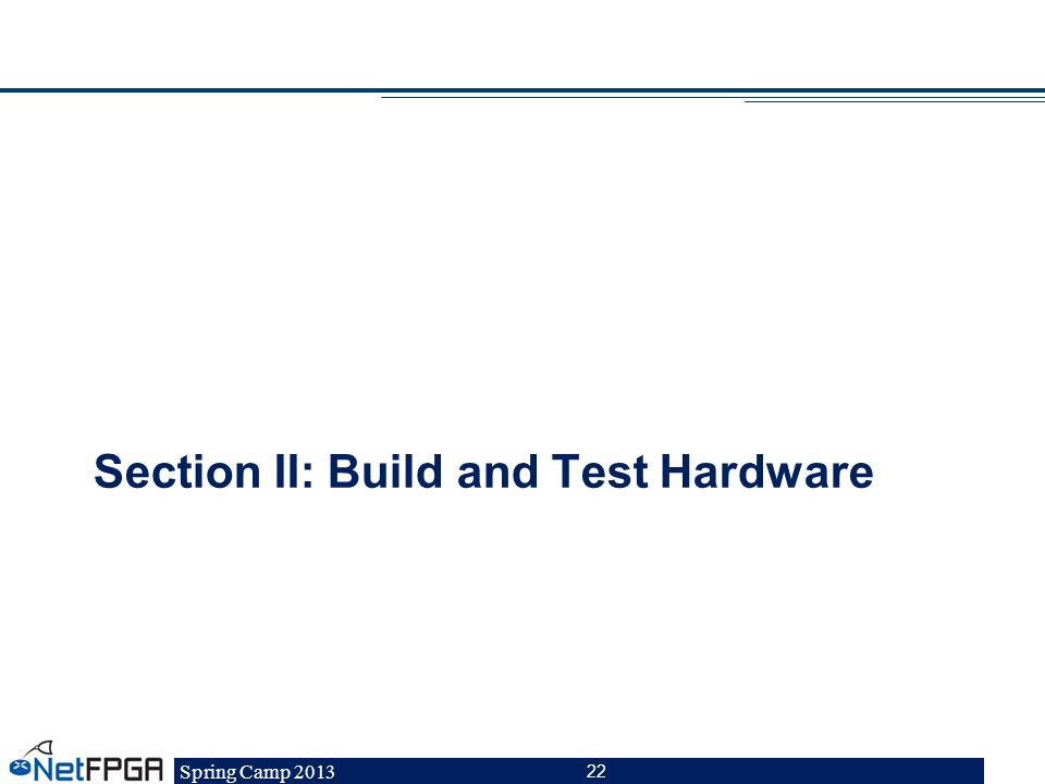 Section II: Build and Test Hardware