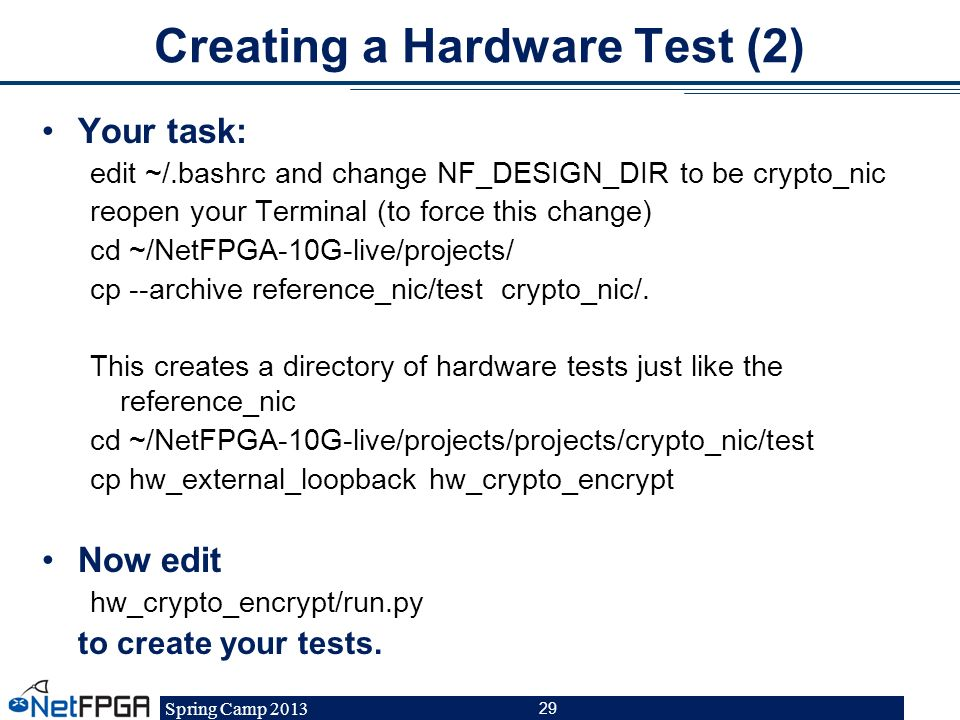 Creating a Hardware Test (2)