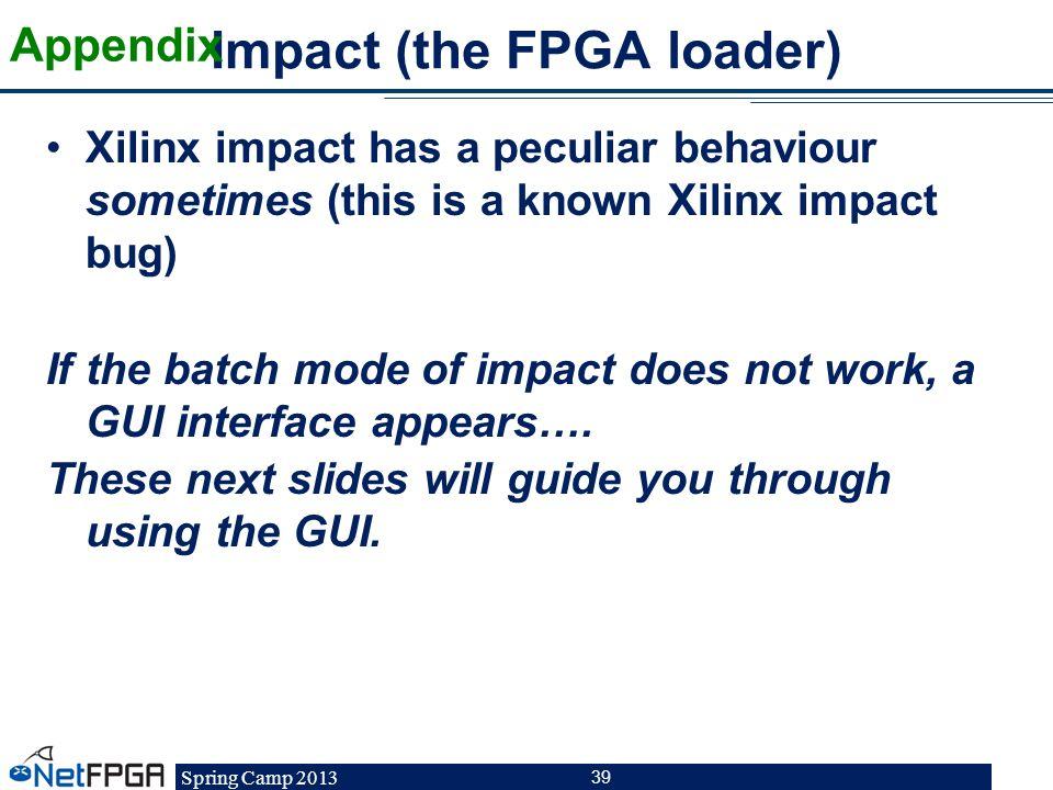 Impact (the FPGA loader)