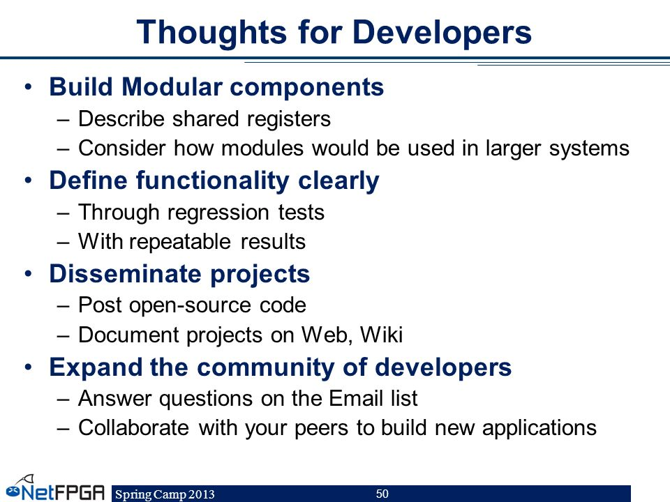 Thoughts for Developers